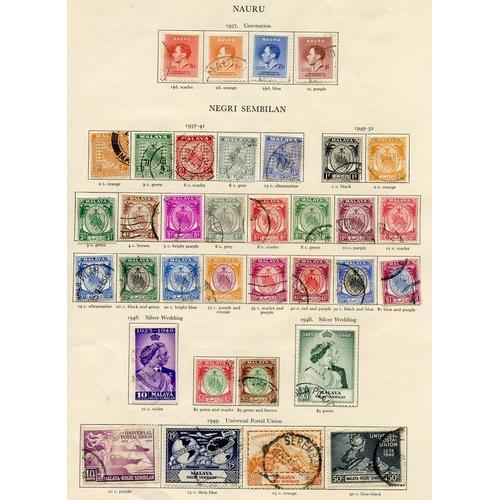 216 - MALAYA - NEGRI SEMBILAN 1937-52 complete (31) Cat. £468 + NAURU (4) Cat. £475...