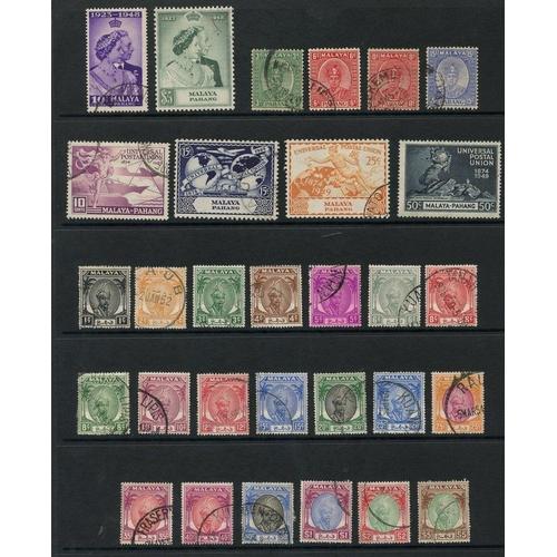 217 - MALAYA - PAHANG 1941-50 complete (30), PENANG 1948-49 complete (26), the odd Av U, Cat. £460...