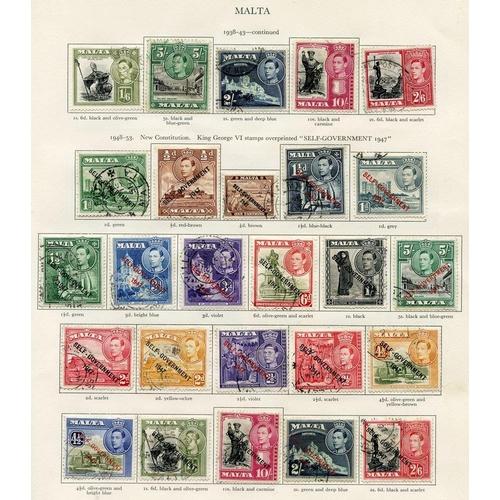 220 - MALTA (59) 1937-51 complete + MALDIVES complete. (68) Cat. £200...