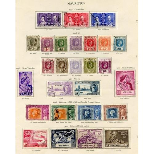 221 - MAURITIUS 1937-50 complete. (42) Cat. £248...