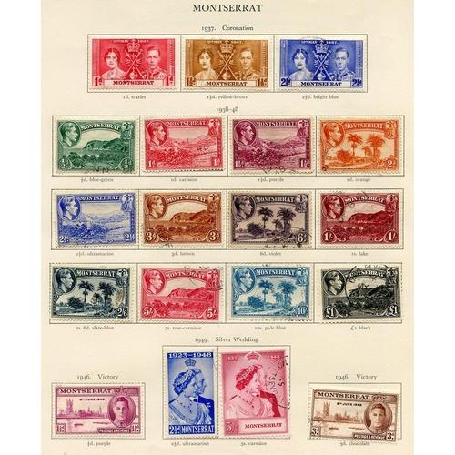 222 - MONTSERRAT 1937-51 complete (38) & NIGERIA 1937-49 complete (27), Cat. £236...