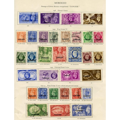 223 - MOROCCO AGENCIES 1936-58 Tangier complete, Spanish Currency, British Currency, MUSCAT B.P.A EASTERN ...