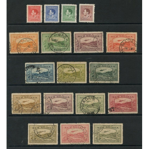 226 - NEW GUINEA 1937-39 set complete, faults incl. 5d crayon mark, 10s missing perf at top. Cat. £850...