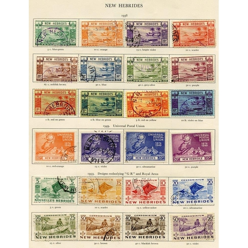 227 - NEW HEBRIDES 1938-53 ENGLISH complete. (37) Cat. £660...