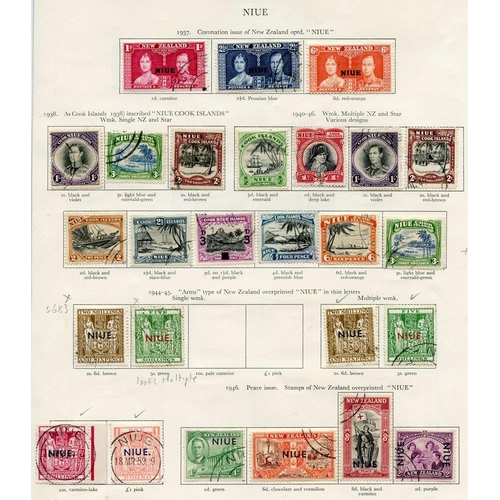 229 - NIUE 1937-56 (36) & NORFOLK ISLAND (12) Cat. £353...