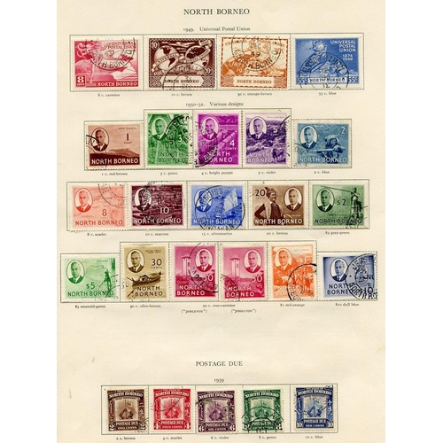 230 - NORTH BORNEO 1939-42 complete. (74) Cat. £1992...