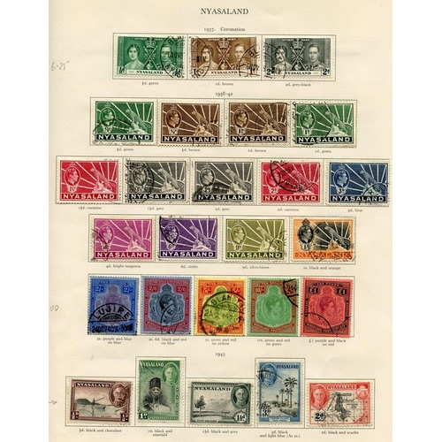 231 - NORTHERN RHODESIA 1937-49 complete (32), NYASALAND 1937-51 complete (53). Cat. £860...