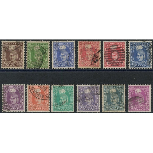232 - ORCHHA 1939-42 set up to 8a with extra 1a, SG.31/41....
