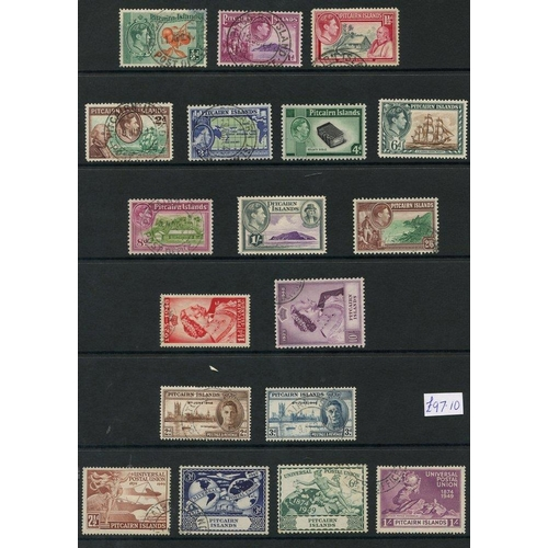 234 - PAPUA 1937-39 complete (15), PALESTINE 1941 complete (3) & PITCAIRN 1940-49 complete (18). Cat. £240...