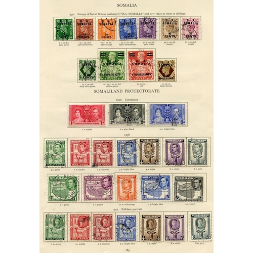 240 - SOMALILAND PROTECTORATE 1937-51 complete (46) & SOMALIA 1943-50 complete (31) Cat. £785...