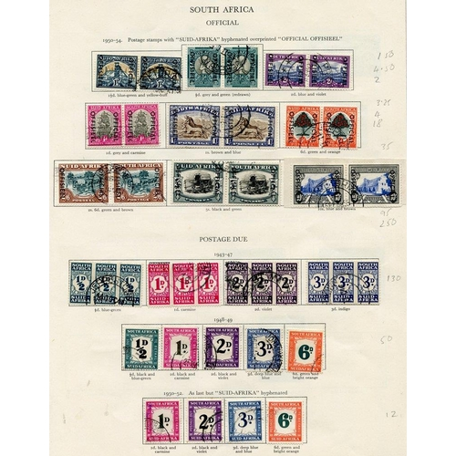 242 - SOUTH AFRICA & S.W.A 1936-51 virtually complete. Viewing recommended. (159) Cat. £3000+...