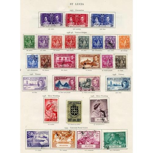 244 - ST. LUCIA 1937-51 complete (49), ST. VINCENT 1937-51 complete (51) Cat. £540...