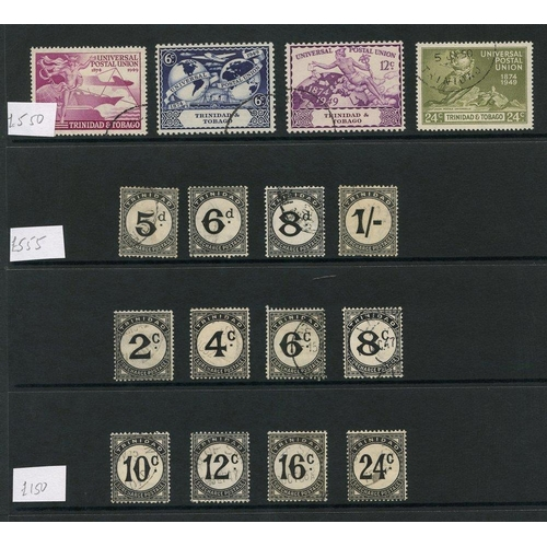 247 - TRINIDAD & TOBAGO 1937-51 complete (39) - the 1945 1s Due has pulled perf at base. TURKS & CAICOS 19...