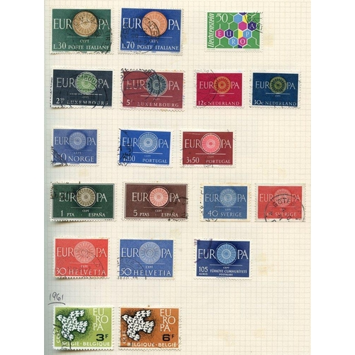 255 - EUROPAS 1956-92 collection in album of 1565 different used incl. the good 1956 Luxembourg set (tones...