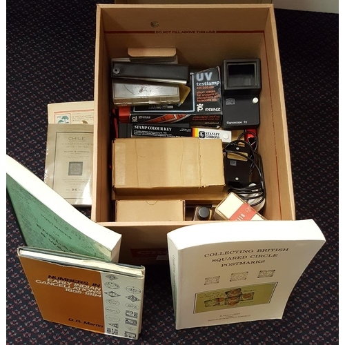 260 - ACCESSORIES - box containing a collector's assortment incl. colour key, Signoscope instatector, Phil...