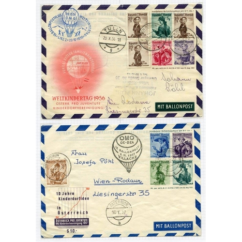 265 - AVIATION album containing PPC's & commemorative flight covers incl. balloon flights etc. (44 + items...