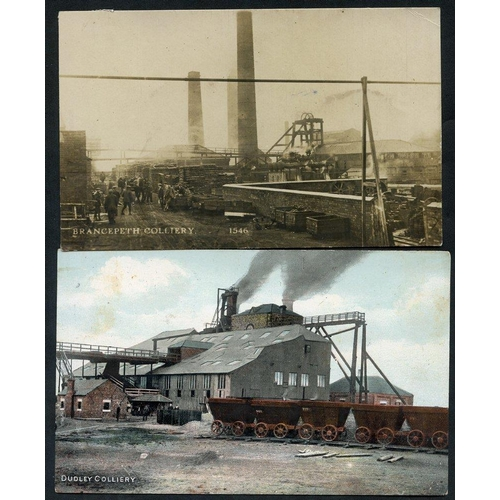 287 - COAL MINES N.E. England group of ten Colliery views incl. seven RP's of Ellington, Brancepeth, Seato...