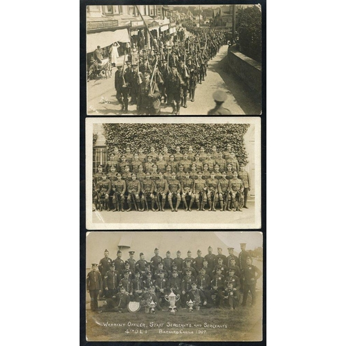 294 - MILITARY range of cards incl. a collection of 25 relating to L/Cpl in the 90th Infantry Brigade with...