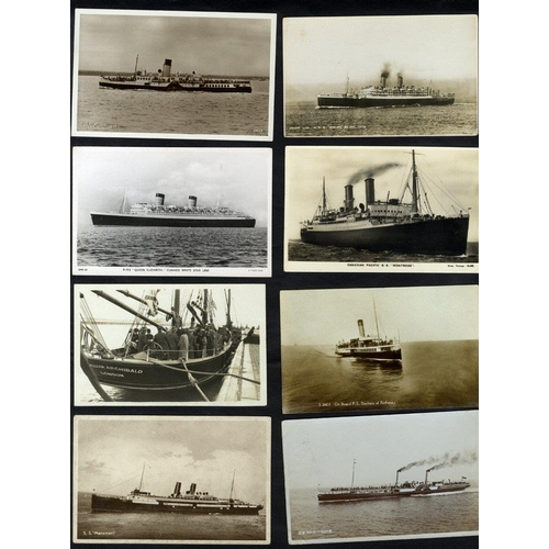 297 - SHIPPING collection of 150 RP's showing a variety of liners/cruisers with some interiors etc....