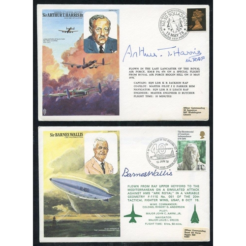 300 - SIGNED COVERS (9 different) commemorative covers of mainly wartime interest incl. signatures from Ba...