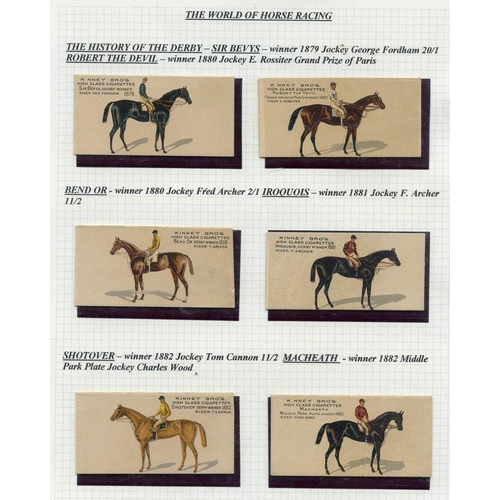 304 - HORSE RACING three very scarce sets comprising 1889 Kinney Bros. (USA), 1889 Famous Running Horses (...