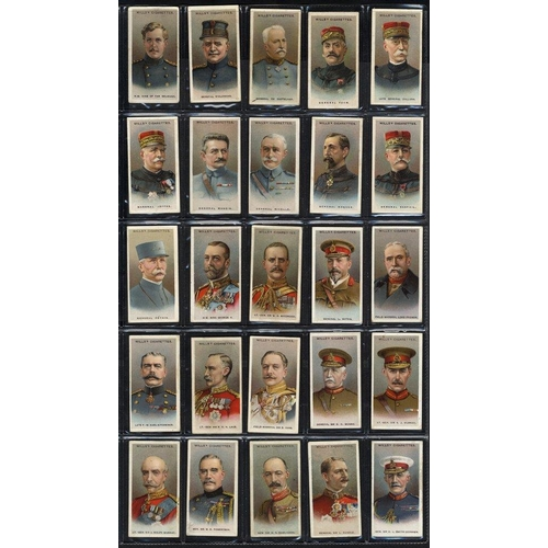 305 - PLAYERS/WILLS collection of 38 sets + 6 part sets in two large albums, better incl. WILLS 1918 Allie...