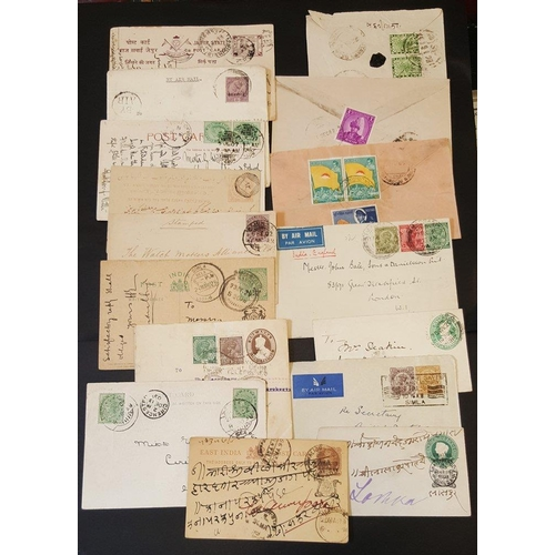 307 - INDIA & STATES with Nepal 19thC - later cover, postcards & postal stationery from QV, KEVII, KGV-KGV...