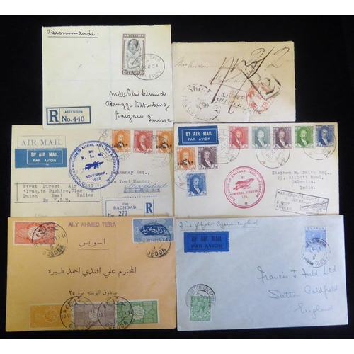 314 - BRITISH COMMONWEALTH & WORLD 19th/20thC group of entires & covers incl. 1817 EL oval SHIP LETTER/CRO...