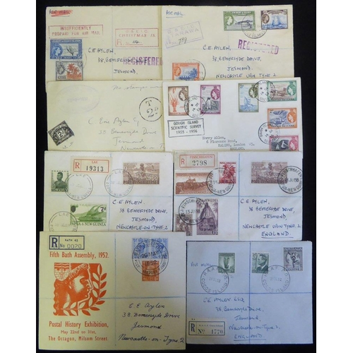 315 - BRITISH COMMONWEALTH New Age album containing GB Philatelic Congress & Exhibition PPC's & covers, Tr...