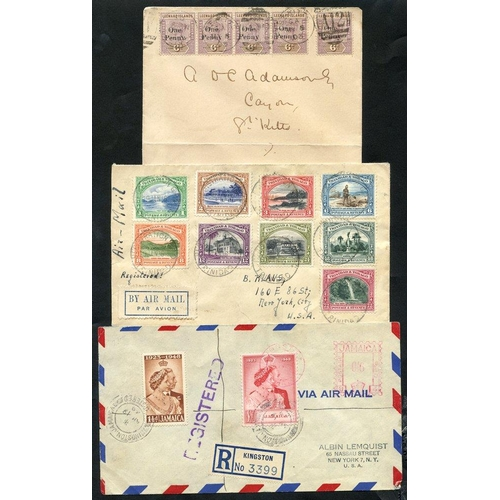 318 - BRITISH WEST INDIES 20thC attractive (all areas) covers with 1903 St. Kitts 1d on 6d Surcharge (5) c...