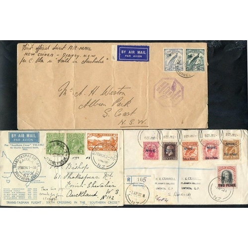 321 - NEW ZEALAND & PACIFIC ISLANDS 19th/20thC assembly of covers (all areas) with NZ damaged Chalons 4d &...