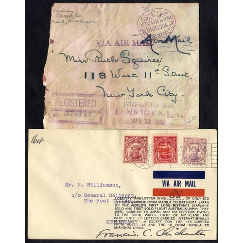 343 - 1931 Francis Chichester flight Manila - Tokyo, crashed at Katsuura with cachet & pilot signed F.C. C...