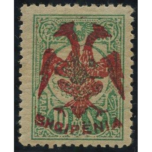 365 - 1913 10pa green with red overprint, fresh M (appears UM), signed Scheller, Mi.5....