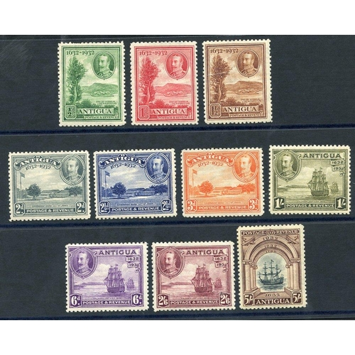 377 - 1932 Tercentenary set, fine M (2½d has some missing perfs), SG.81/90. (10) Cat. £225...