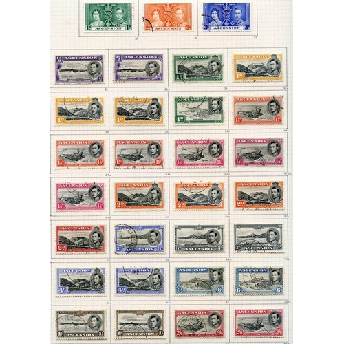 386 - 1937-53 collection U on philatelic leaves with all perfs & shades of the 1938 defins, chiefly fine, ...