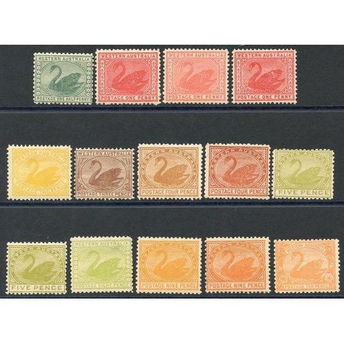 408 - 1905-12 ½d to 10d range incl. shades, fine M, from SG.138/146. Scarce group. (14) Cat. £360...