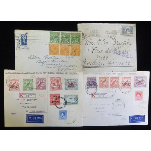 409 - AIRMAILS & OTHERS 19th/20thC group with Victoria & Queensland QV 6d covers, one to Prince Edward Isl...