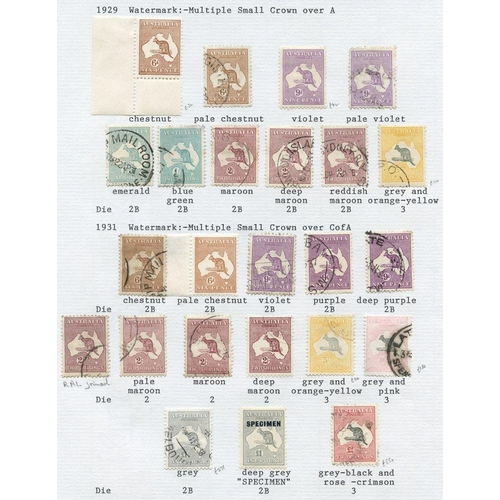 410 - 1913-72 M & U collection housed in an Exeter album commencing with a useful range of Roos with 1913 ...