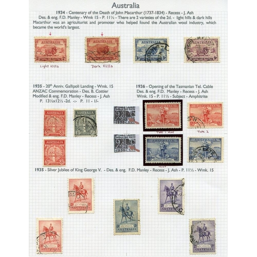 412 - AUSTRALIA & STATES 1913-2000 collection of M & U housed in four Alpha Major albums....