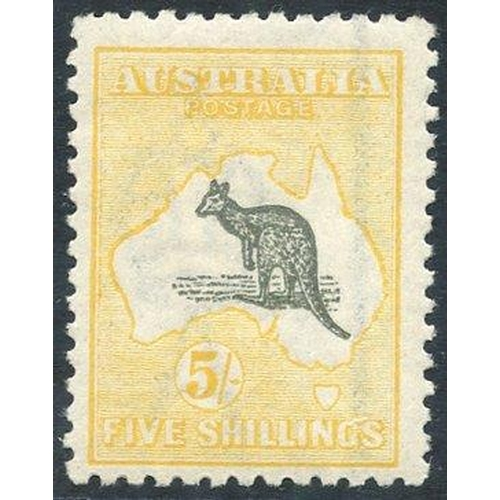414 - 1915-27 5s grey & pale yellow, fresh M, SG.42c. (1) Cat. £275....
