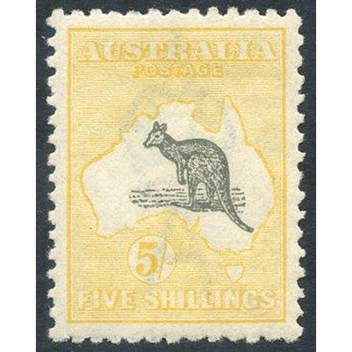 415 - 1915-27 5s grey & yellow, fresh M, SG.42. (1) cat. £275...