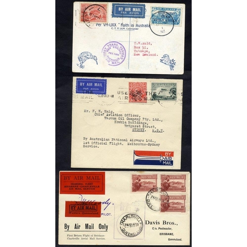 421 - 1929-33 first flight covers (3) comprising 1929 QANTAS Charleville - Brisbane cover with both specia...