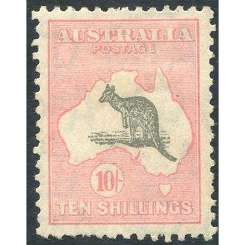 425 - 1931-36 10s grey & pink, fresh o.g, well centred, couple of nibbled perfs at foot, SG.136. (1) Cat. ...