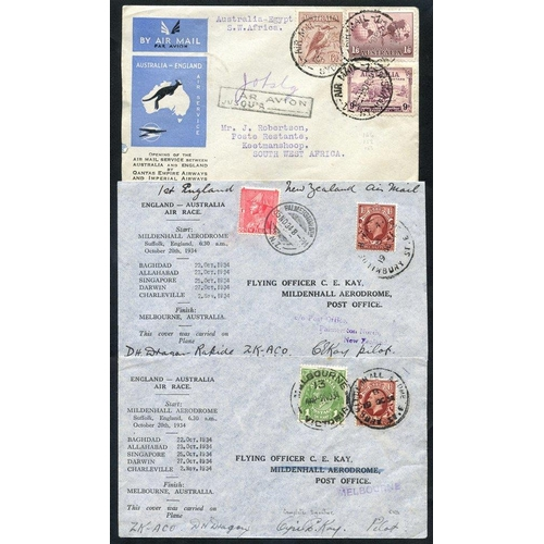 429 - AIRMAILS 20thC International & Internal with pair of 1934 England - Australia Air Race (pilot signed...