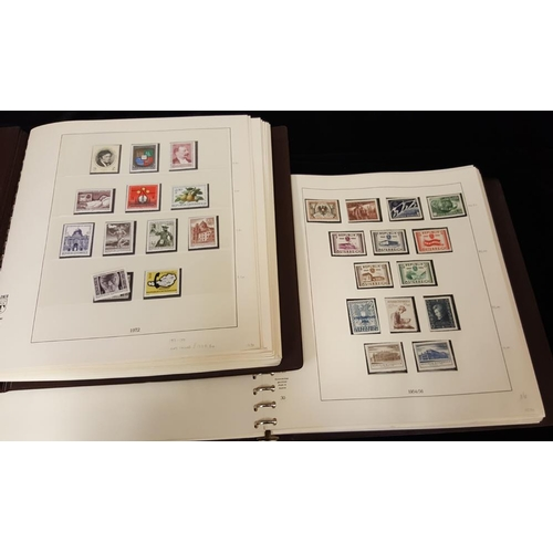 445 - 1945-71 fine UM collection housed in two Lindner hingeless albums with a comprehensive range of sets...