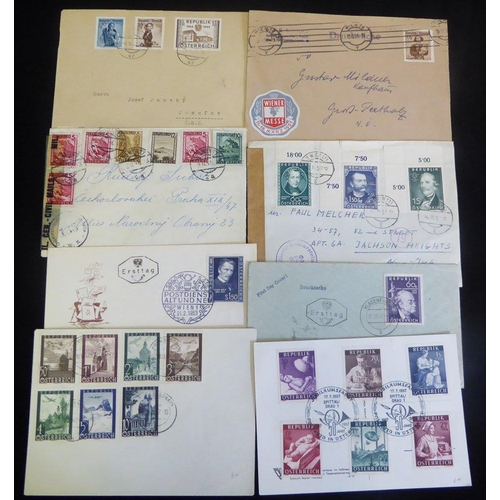 448 - Second Republic to 1955 interesting range incl. censored, airmail. commemorative cancels, uncommon r...