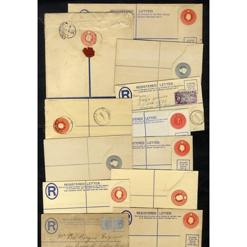 450 - 1894-1980 (circa) registered stationery envelopes, mainly unused. (21)...