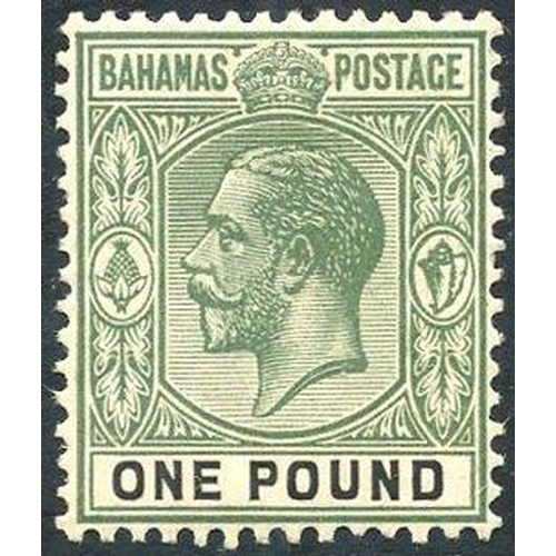 452 - 1912-19 MCCA £1 dull green & black, M (gum toned), SG.89, Cat. £200 (1)...