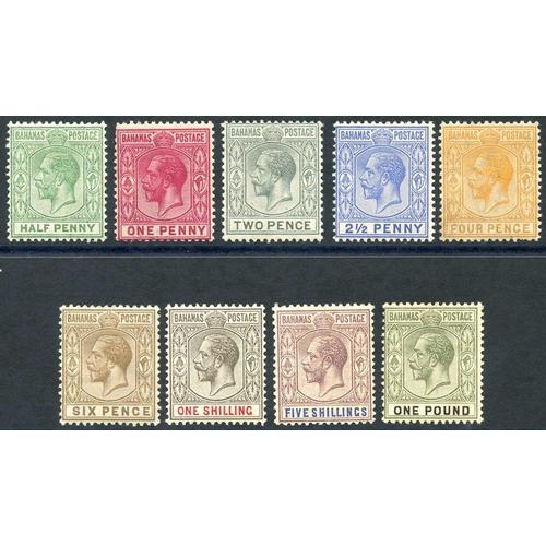 453 - 1912-19 MCCA set, fine M, SG.81/9. (9) Cat. £225...
