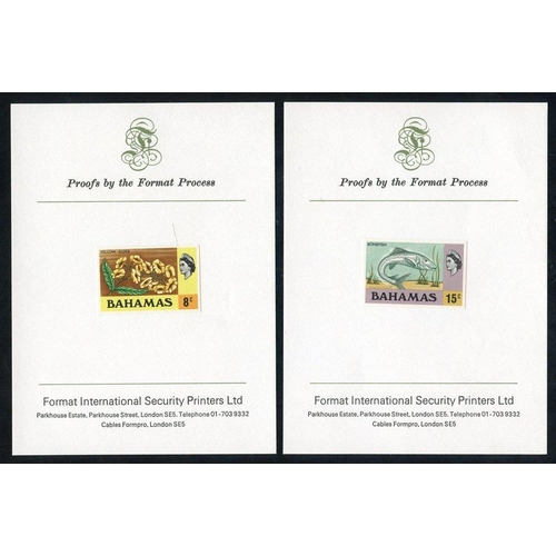 459 - 1971 Defin 8c & 15c Imperforate Die Proofs of each, mounted on printer's (Format International) card...